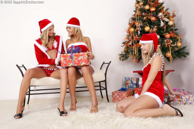 Angelic blonde trio give strapon present - part 2018